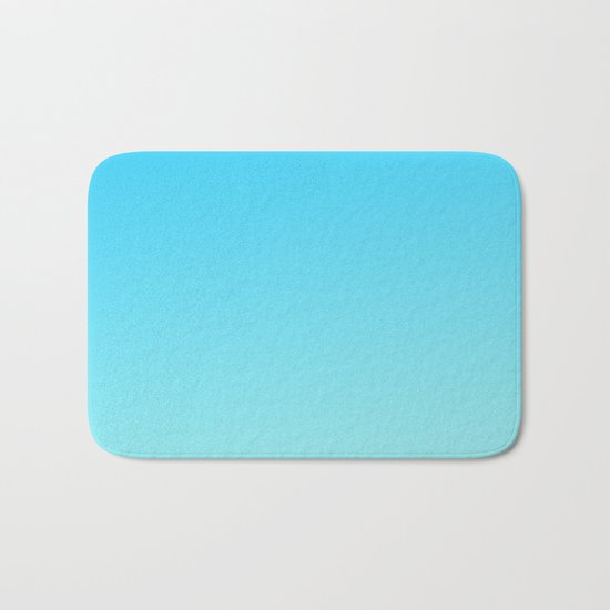 Simply sea blue teal color gradient - Mix and Match with Simplicity of Life Bath Mat