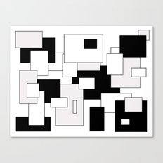 Squares - gray, black and white Canvas Print