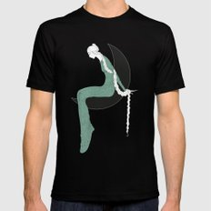 The six princesses (Celadon) Black MEDIUM Mens Fitted Tee