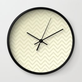 Delicate ivory chevrons Wall Clock