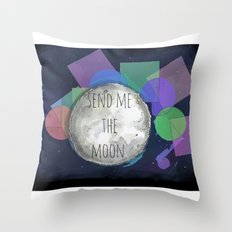send me the moon Throw Pillow