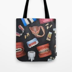 Tooth Collage Tote Bag