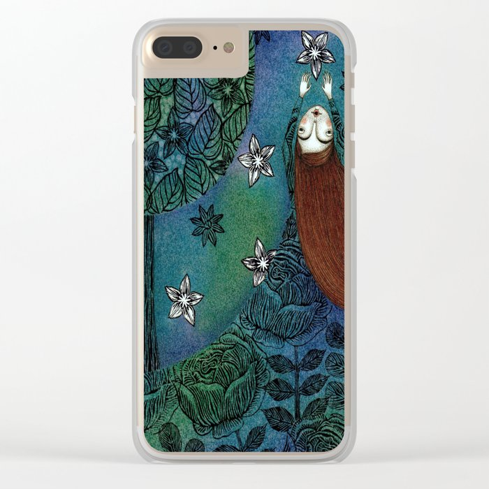 My Summer Stars Clear iPhone Case