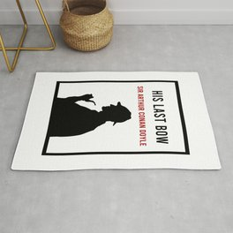 His Last Bow Minimalist Book Cover Rug