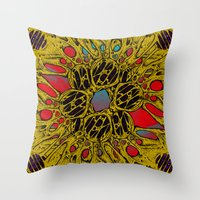 in the flesh Throw Pillows featuring Flesh Warp by Craig Earp