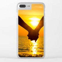 Romantic sunset Clear iPhone Case