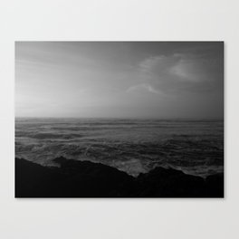 Fading Light, Rising Sea Canvas Print
