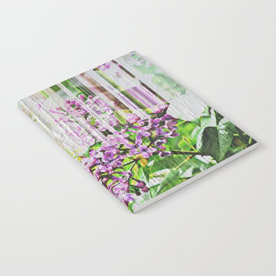 White Washed Painted Lilac Notebook