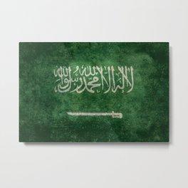 Flag of  Kingdom of Saudi Arabia - Vintage version Metal Print