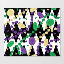 Mardi Gras Throws Canvas Print