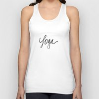 """yoga Tank Tops featuring """"Yoga"""" by  Tori Wise Watercolors"""