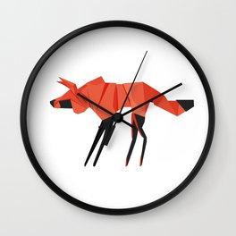 Origami Hyena Wall Clock