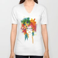 dreamer V-neck T-shirts featuring Dreamer by PositIva