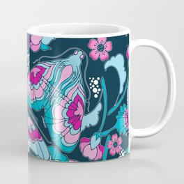 Art Nouveau Butterflies in Navy Coffee Mug