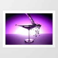 martini Art Prints featuring Martini by Littlebell