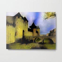 Walls of Carcassonne Metal Print