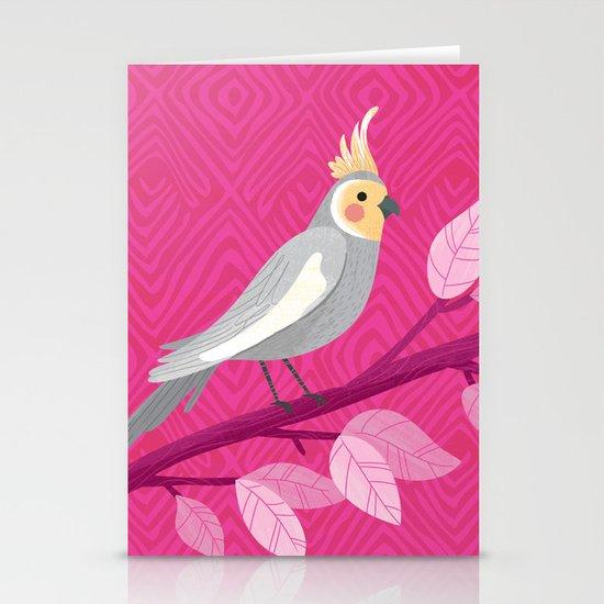 Bright Bird Portrait Stationery Cards