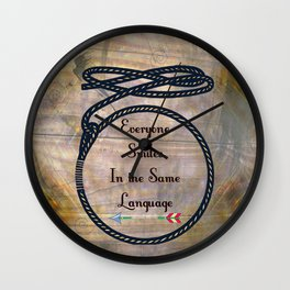 Everyone Smiles In The Same Language Wall Clock