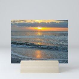 Sun Rising Over the Waves Mini Art Print