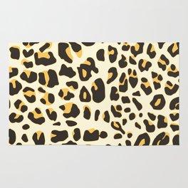 Trendy brown black abstract jaguar animal print Rug