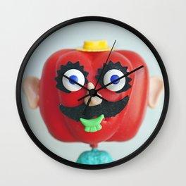 Mr Capsicum Head Wall Clock