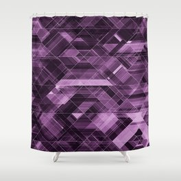 Abstract violet pattern Shower Curtain