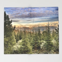 """""""Wildderness"""". Adventure at the mountains... Throw Blanket"""