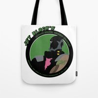 cowboy bebop Tote Bags featuring Bebop Jet by AngoldArts