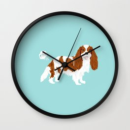Cavalier King Charles Spaniel blenheim funny farting dog breed gifts Wall Clock