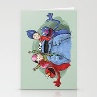 cookie monster Stationery Cards featuring cookie monster by ErsanYagiz