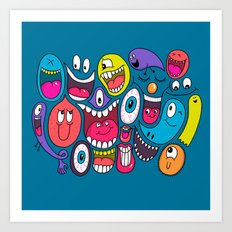 Friendly Faces Art Print