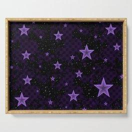 Purple Neon Stars Serving Tray