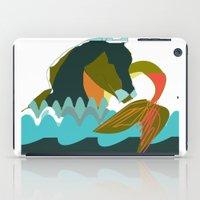 sea horse iPad Cases featuring Sea Horse by Federica Fernanda