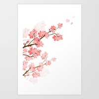 cherry Art Prints featuring Cherry by Ale Ibanez