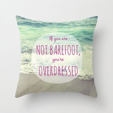 Barefoot Summer Throw Pillow