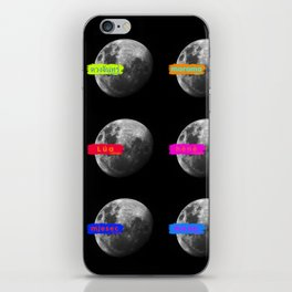 Moon languages of the world iPhone Skin