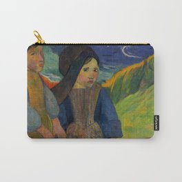 "Paul Gauguin ""Two Breton Girls by the Sea"" Carry-All Pouch"