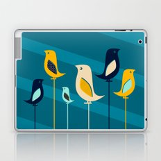 Mid Century Birds Blue Laptop & iPad Skin
