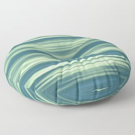 Abstraction Serenity in Afternoon at Sea Floor Pillow