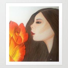 My life is like a Rose Art Print
