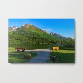 Summit Lake - Kenai Peninsula, Alaska Metal Print