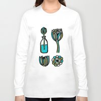 succulents Long Sleeve T-shirts featuring Succulents by Marginalink
