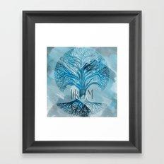 Aqua Dream Tree Framed Art Print