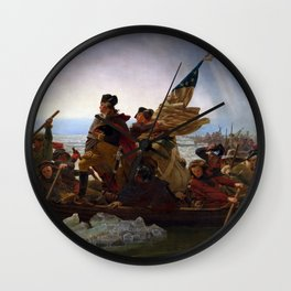 Washington Crossing the Delaware by Emanuel Leutze Wall Clock