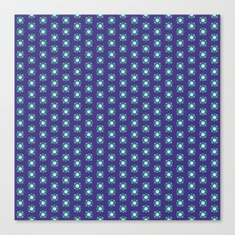 Mandala patern smal blue Canvas Print