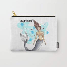 Capricorn Mermaid Carry-All Pouch