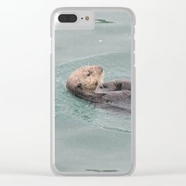 Belly Rub Clear iPhone Case
