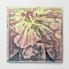 Girl in Flowers  Metal Print