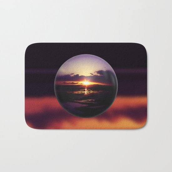 Float on the clouds like a drop of dew and bask in the light of a sunrise view Bath Mat