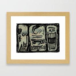 THE 3 JERKS Framed Art Print